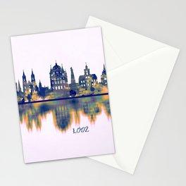 Lodz Skyline Stationery Cards