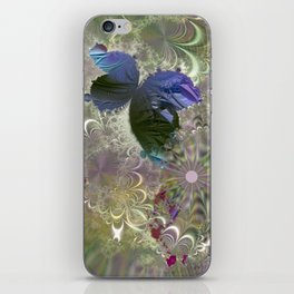 The butterfly of a fractal dreamscape iPhone Skin