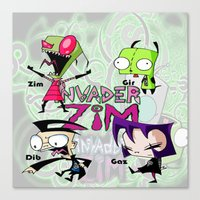 invader zim Canvas Prints featuring Invader Zim best decoration ideas by customgift