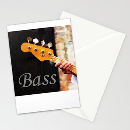Bass Guitar neck , musical instrument  Stationery Cards