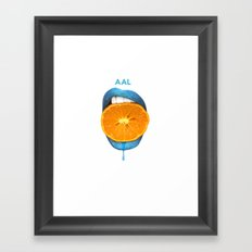 mouth Framed Art Print