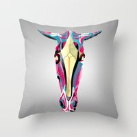 horse Throw Pillows featuring horse by Alvaro Tapia Hidalgo