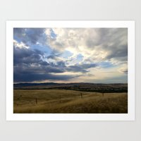 montana Art Prints featuring Montana by Ruby Love