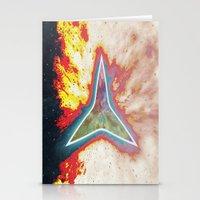 big bang Stationery Cards featuring Big Bang by Helle Gade