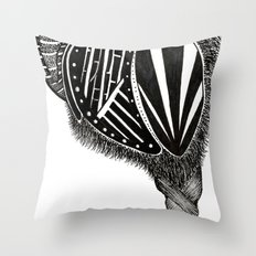 Hairy Heart Throw Pillow