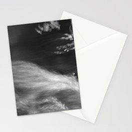 Brave mountain river at night Stationery Cards