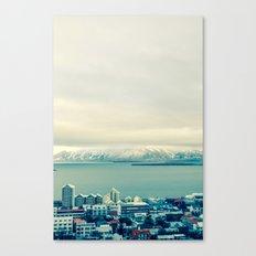 Blue Reykjavik - Iceland Canvas Print