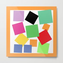 Bouquet of Squares Metal Print