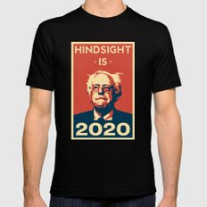 Hindsight is 2020 Bernie Sanders LARGE Mens Fitted Tee Black
