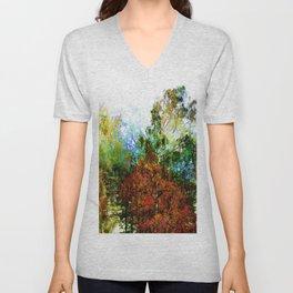 Colorful Birches Unisex V-Neck