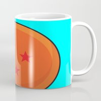 dragonball z Mugs featuring Sacred Dragonball by Hussein Ibrahim