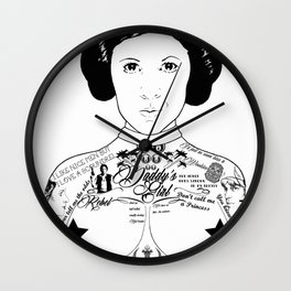 Leia'd Bare Wall Clock
