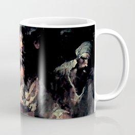 """Blackbeard in Smoke and Fire"" by Frank E Schoonover Coffee Mug"
