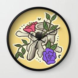 Flowery Vertebrae Wall Clock