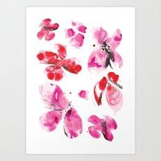 Flower love Art Print