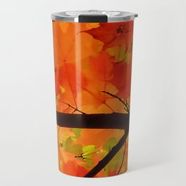 Sugar Maple Leaves in the Fall Light Travel Mug