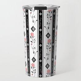 Retro pattern. Roses. Travel Mug