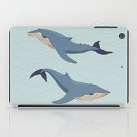 whales iPad Cases featuring Whales by Evgeniya Ivanova