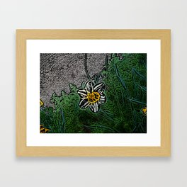 Surreal White Daisy  Framed Art Print