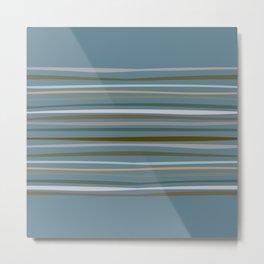 Blueprint and Stripes 1 Metal Print