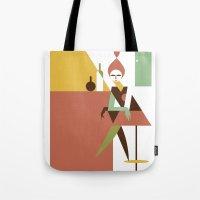 bar Tote Bags featuring Mini Bar by Szoki