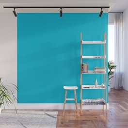 Turquoise color Wall Mural