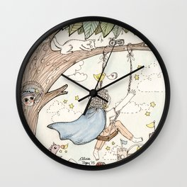Sol de la Noche, Evening Sun Wall Clock