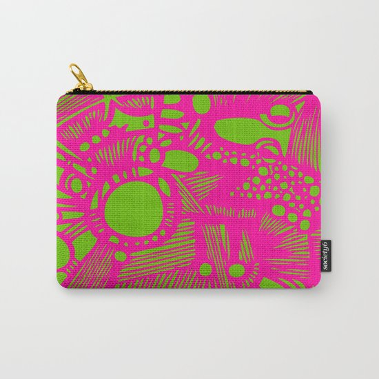INK#3 Pink hen in the backyard  Carry-All Pouch