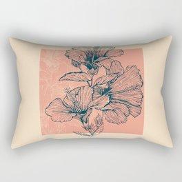 Hibiscus Colors Rectangular Pillow