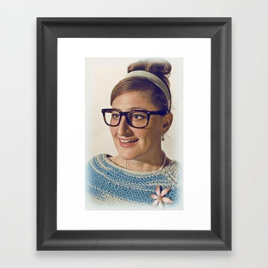 i.am.nerd. :: lauren r. Framed Art Print