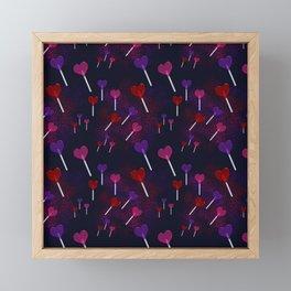 Lollipop Hearts Pattern Framed Mini Art Print