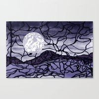 cracked Canvas Prints featuring Cracked by Mel Moongazer