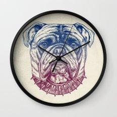 Gritty Bulldog Wall Clock