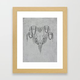 You and Me and the Devil makes 3 Framed Art Print
