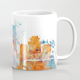 Nashville Watercolor Skyline Coffee Mug