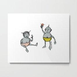 Robot Babies 1 Metal Print