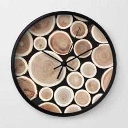 Timber 4 Wall Clock