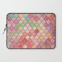 Pink Mermaid Scales Laptop Sleeve