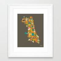 chicago Framed Art Prints featuring CHICAGO by Jazzberry Blue