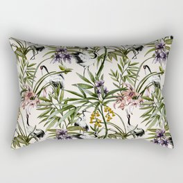 Cranes in the Asian garden Rectangular Pillow