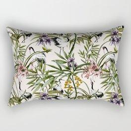 Cranes in the Asian garden Rectangular Pillow