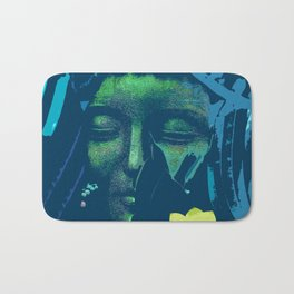 Blue Buddha Collage Bath Mat