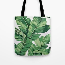 Tropical banana leaves VI Tote Bag
