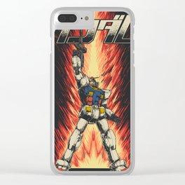 The First Gundam Last Shot Clear iPhone Case