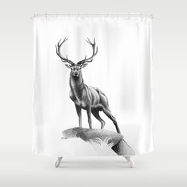 All Muscle - Red Deer Stag Shower Curtain
