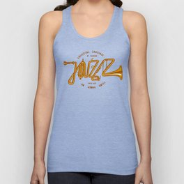 Jazz Trumpet Unisex Tank Top
