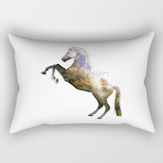 Horse view VI Rectangular Pillow
