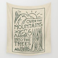 oz Wall Tapestries featuring Over The Mountains by WEAREYAWN