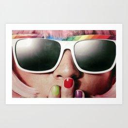 Carnaval girl Art Print