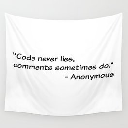 Code never lies Wall Tapestry